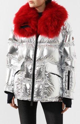 Женский куртка 3 moncler grenoble MONCLER GRENOBLE серебряного цвета, арт. E2-098-46803-15-C0283   Фото 3