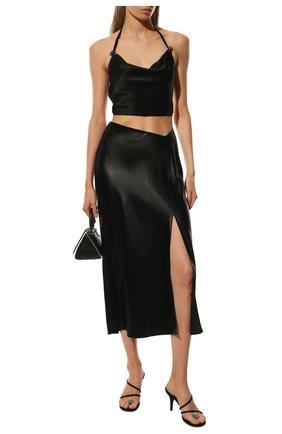 Женская юбка ALEXANDERWANG.T черного цвета, арт. 4WC1205005 | Фото 2
