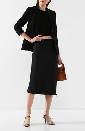 Женская юбка ALEXANDERWANG.T черного цвета, арт. 4WC1205002 | Фото 2