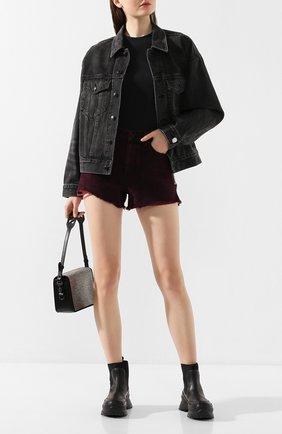 Женские джинсовые шорты DENIM X ALEXANDER WANG розового цвета, арт. 4DC1204689 | Фото 2