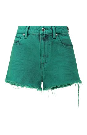 Женские джинсовые шорты DENIM X ALEXANDER WANG зеленого цвета, арт. 4DC1204612 | Фото 1