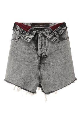 Женские джинсовые шорты DENIM X ALEXANDER WANG серого цвета, арт. 4DC1204553 | Фото 1