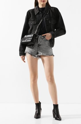 Женские джинсовые шорты DENIM X ALEXANDER WANG серого цвета, арт. 4DC1204553 | Фото 2