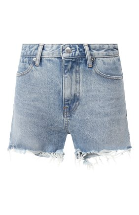 Женские джинсовые шорты DENIM X ALEXANDER WANG голубого цвета, арт. 4D994449AD | Фото 1