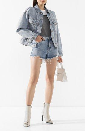 Женские джинсовые шорты DENIM X ALEXANDER WANG голубого цвета, арт. 4D994449AD | Фото 2