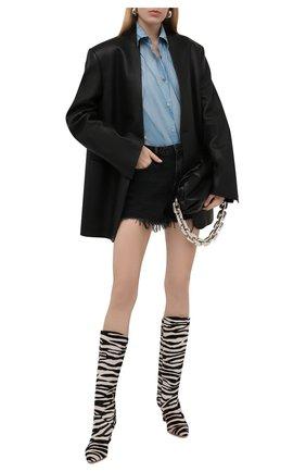 Женские джинсовые шорты DENIM X ALEXANDER WANG серого цвета, арт. 4D994038AD | Фото 2