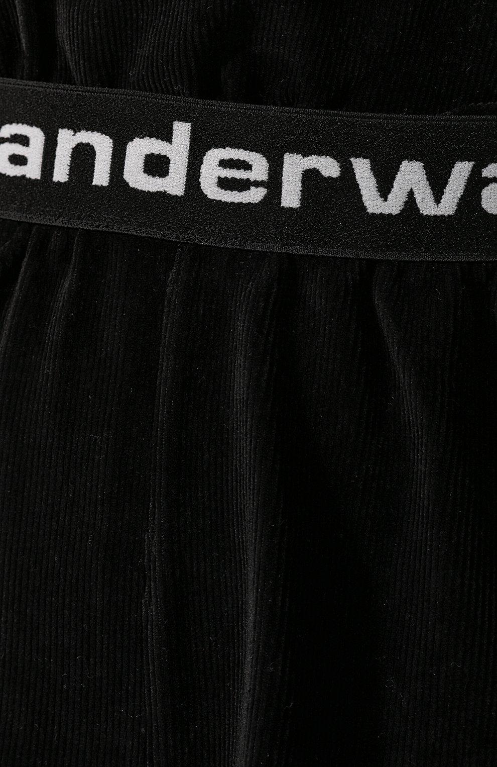 Женские шорты ALEXANDERWANG.T черного цвета, арт. 4CC1204011 | Фото 5 (Женское Кросс-КТ: Шорты-одежда; Длина Ж (юбки, платья, шорты): Мини; Материал внешний: Синтетический материал, Хлопок; Стили: Спорт-шик)