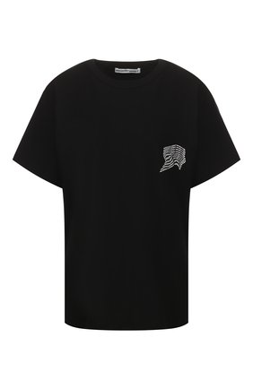 Женская хлопковая футболка ALEXANDERWANG.T черного цвета, арт. 4CC1201091 | Фото 1