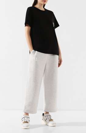 Женская хлопковая футболка ALEXANDERWANG.T черного цвета, арт. 4CC1201091 | Фото 2