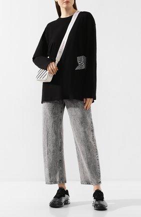 Женская хлопковый лонгслив ALEXANDERWANG.T черного цвета, арт. 4CC1201090 | Фото 2