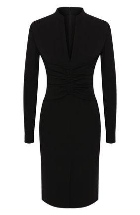 Женское шелковое платье TOM FORD черного цвета, арт. AB2769-FAX187 | Фото 1