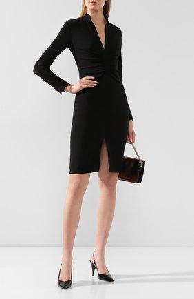 Женское шелковое платье TOM FORD черного цвета, арт. AB2769-FAX187 | Фото 2