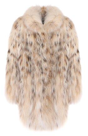 Женская шуба из меха рыси KITON бежевого цвета, арт. D46692X05S12 | Фото 1