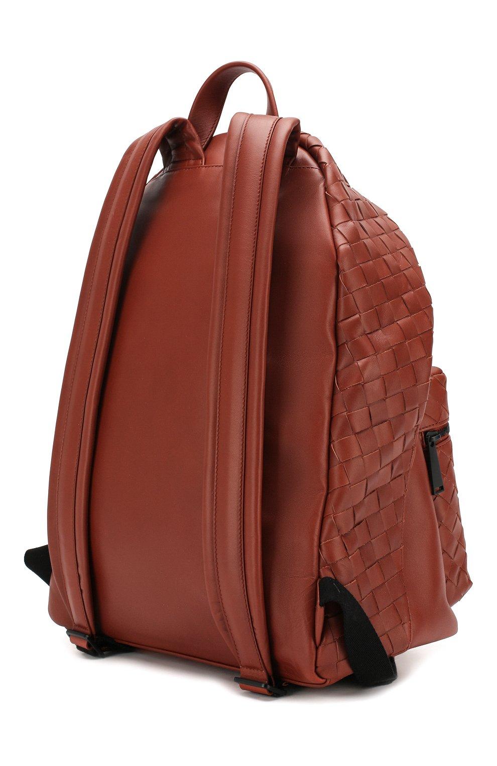 Мужской кожаный рюкзак BOTTEGA VENETA коричневого цвета, арт. 599634/VCPQ2 | Фото 3