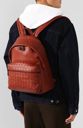 Мужской кожаный рюкзак BOTTEGA VENETA коричневого цвета, арт. 599634/VCPQ2 | Фото 5