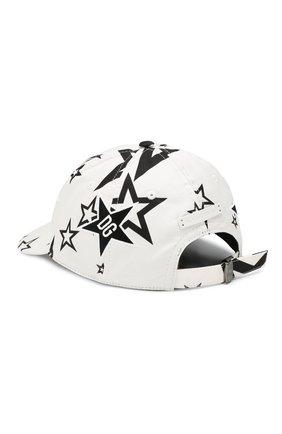 Мужской хлопковая бейсболка DOLCE & GABBANA черно-белого цвета, арт. GH590Z/FSFJJ | Фото 2