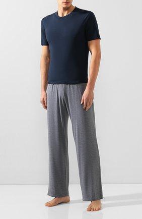Мужские хлопковая футболка DIRK BIKKEMBERGS темно-синего цвета, арт. VBKT04085 | Фото 2