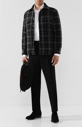 Мужские замшевые челси ALEXANDER MCQUEEN черного цвета, арт. 604259/WHXK3   Фото 2