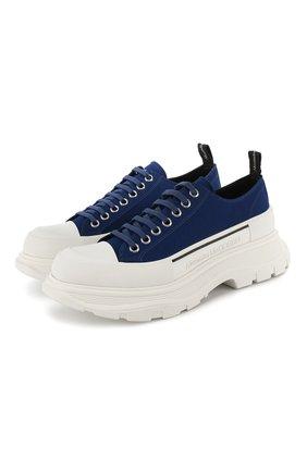 Мужские текстильные кроссовки tread slick ALEXANDER MCQUEEN синего цвета, арт. 604257/W4LR1 | Фото 1