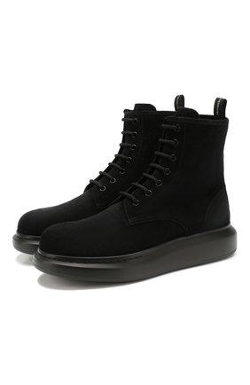 Мужские замшевые ботинки ALEXANDER MCQUEEN черного цвета, арт. 586191/WHXK1 | Фото 1