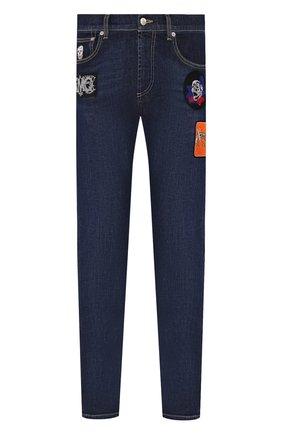 Мужские джинсы ALEXANDER MCQUEEN синего цвета, арт. 589768/Q0Y21 | Фото 1