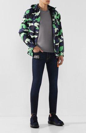Мужские джинсы ALEXANDER MCQUEEN синего цвета, арт. 589768/Q0Y21 | Фото 2