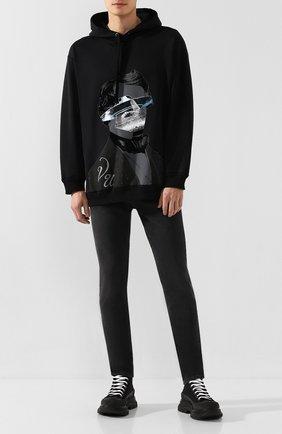 Мужские джинсы ALEXANDER MCQUEEN темно-серого цвета, арт. 589767/Q0Y77   Фото 2