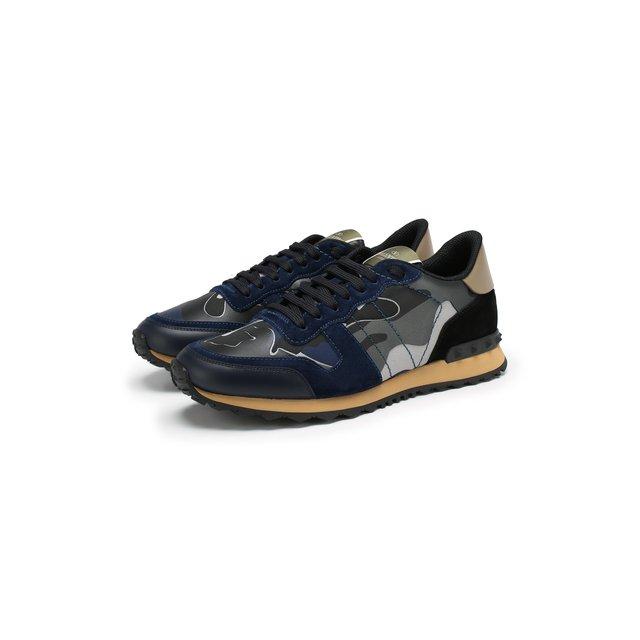 Комбинированные кроссовки Valentino Garavani Rockrunner Valentino — Комбинированные кроссовки Valentino Garavani Rockrunner