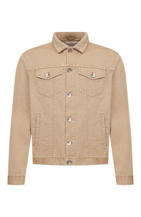 Мужская джинсовая куртка BRUNELLO CUCINELLI бежевого цвета, арт. M0Y166845 | Фото 1
