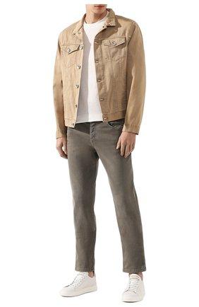 Мужская джинсовая куртка BRUNELLO CUCINELLI бежевого цвета, арт. M0Y166845 | Фото 2