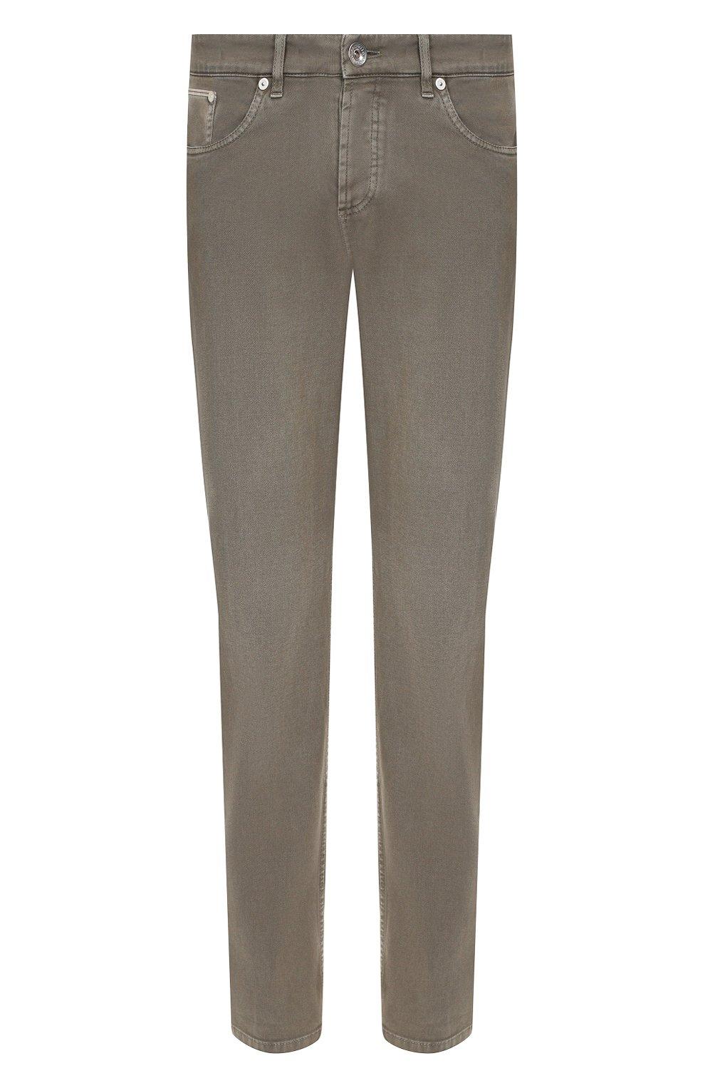 Мужские джинсы BRUNELLO CUCINELLI хаки цвета, арт. M0Y16B2210   Фото 1
