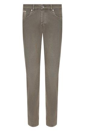Мужские джинсы BRUNELLO CUCINELLI хаки цвета, арт. M0Y16B2210 | Фото 1