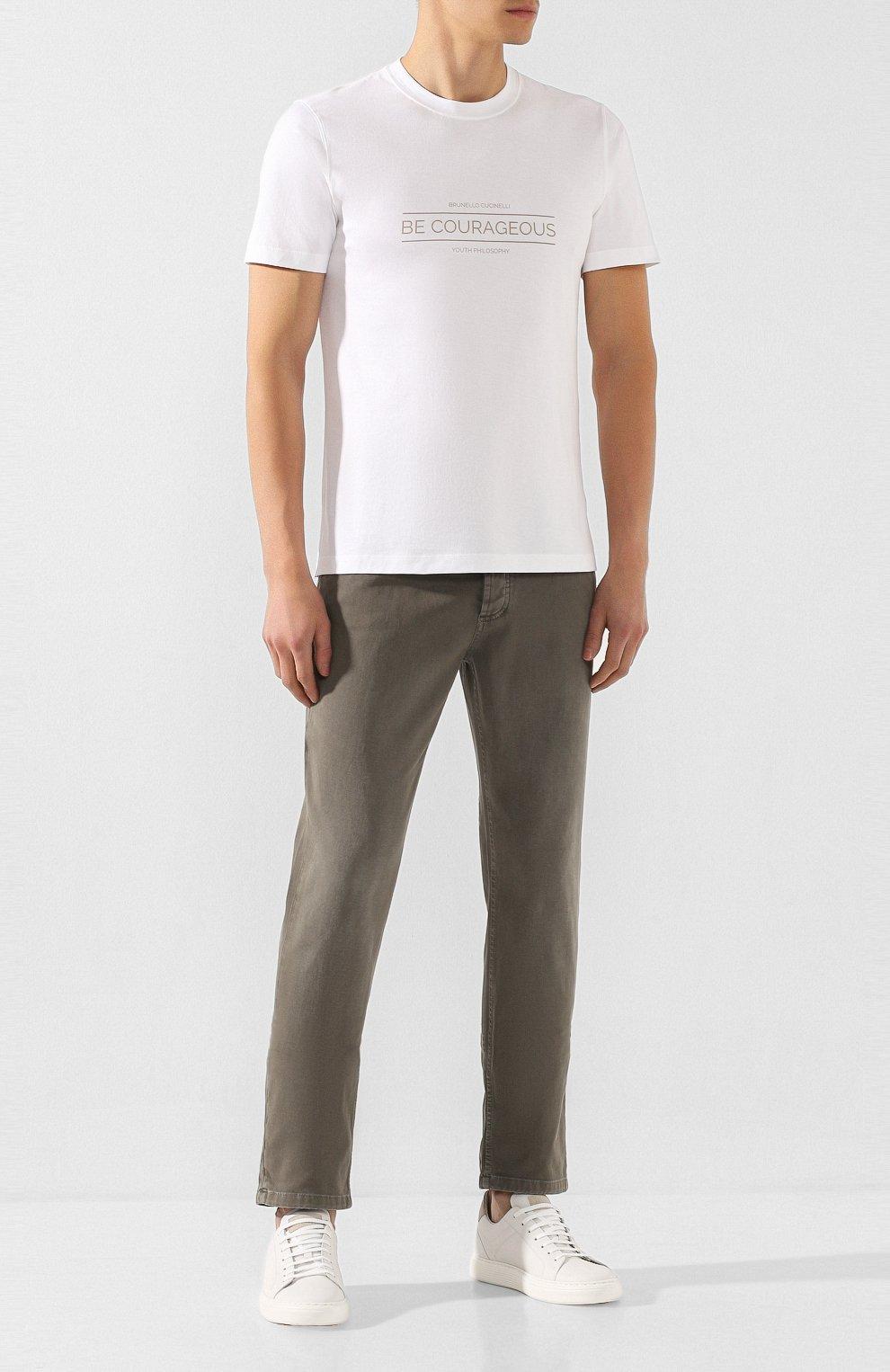 Мужские джинсы BRUNELLO CUCINELLI хаки цвета, арт. M0Y16B2210   Фото 2