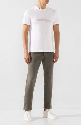 Мужские джинсы BRUNELLO CUCINELLI хаки цвета, арт. M0Y16B2210 | Фото 2