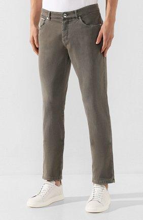 Мужские джинсы BRUNELLO CUCINELLI хаки цвета, арт. M0Y16B2210   Фото 3