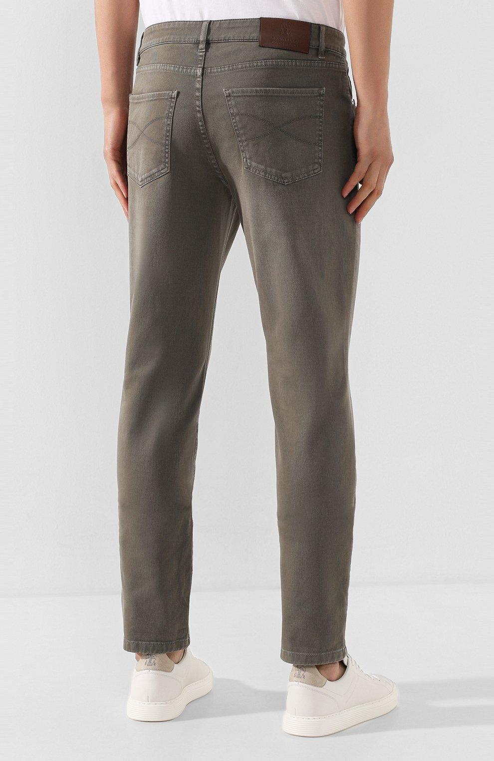 Мужские джинсы BRUNELLO CUCINELLI хаки цвета, арт. M0Y16B2210   Фото 4