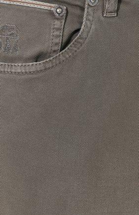 Мужские джинсы BRUNELLO CUCINELLI хаки цвета, арт. M0Y16B2210   Фото 5