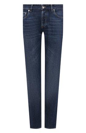 Мужские джинсы BRUNELLO CUCINELLI темно-синего цвета, арт. ME228B2220 | Фото 1