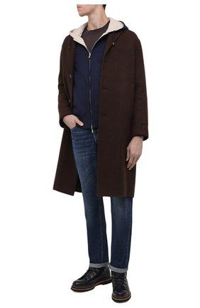 Мужские джинсы BRUNELLO CUCINELLI темно-синего цвета, арт. ME228B2220 | Фото 2