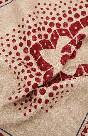 Мужской шелковый платок BRUNELLO CUCINELLI бежевого цвета, арт. MQ8480091 | Фото 2