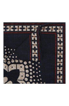 Мужской шелковый платок BRUNELLO CUCINELLI темно-синего цвета, арт. MQ8480091 | Фото 1