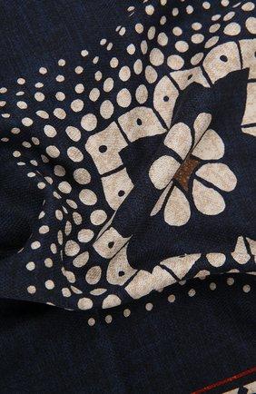 Мужской шелковый платок BRUNELLO CUCINELLI темно-синего цвета, арт. MQ8480091 | Фото 2