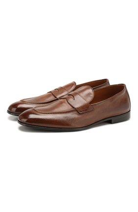 Мужские кожаные пенни-лоферы BRUNELLO CUCINELLI коричневого цвета, арт. MZUT0DZ872 | Фото 1