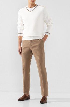 Мужские кожаные пенни-лоферы BRUNELLO CUCINELLI коричневого цвета, арт. MZUT0DZ872 | Фото 2