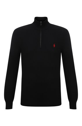 Мужской хлопковый джемпер POLO RALPH LAUREN черного цвета, арт. 710701611 | Фото 1