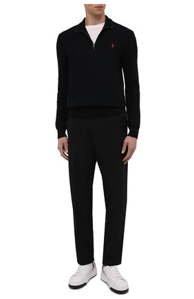 Мужской хлопковый джемпер POLO RALPH LAUREN черного цвета, арт. 710701611 | Фото 2