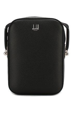 Мужская кожаная сумка DUNHILL черного цвета, арт. DU20R3550CA   Фото 1