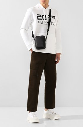 Мужская кожаная сумка DUNHILL черного цвета, арт. DU20R3550CA   Фото 2
