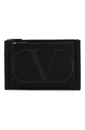 Мужская текстильный клатч valentino garavani vlogo VALENTINO черного цвета, арт. SY0B0863/MLI | Фото 1