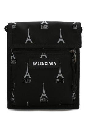 Мужская текстильная сумка BALENCIAGA черно-белого цвета, арт. 532298/9ELC5 | Фото 1